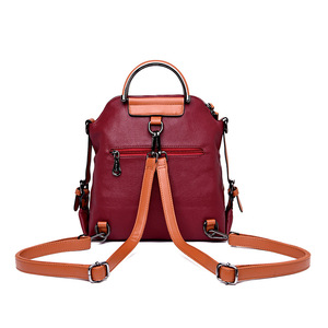 Image 4 - Fashion Women Backpack Large Capacity Travel Backpacks Soft Leather Shoulder Bags for Women Famous Brand Backpack Female Mochila