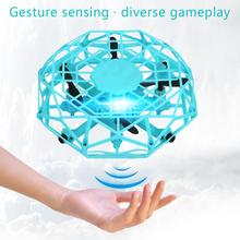 Mini Drone Infrared Induction Hand Control UFO Altitude Hold RC Training Drone