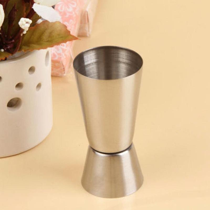 1 Pcs Stainless Steel Cocktail Shaker Mixer Jigger Single Double Shot Short Drink Wine Measure Cup Bar 30/50ml