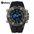INFANTRY Men Luxury Army Quartz Wristwatch Dual Time Digital Sport Watches Military Watch Male LED Alarm Clock Relogio Masculino