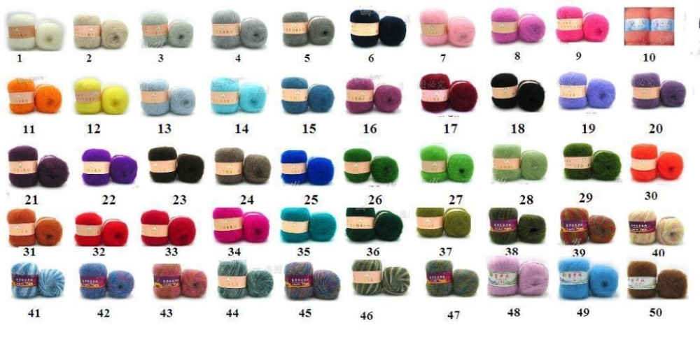 Angola mohair color chart-50colors