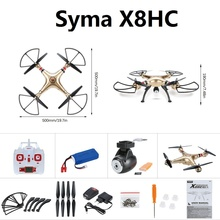 Upgraded X8C Syma X8HC RC Drone With 2MP HD Camera 2.4G 4CH 6Axis Altitude Hold Headless Mode RC Quadcopter with 3pcs battery