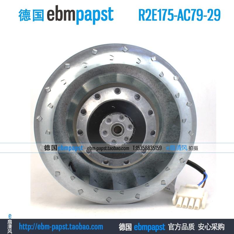 New original ebm papst R2E175-AC79-29 AC 115V 0.50A 0.61A 55W 70W 175x175mm Centrifugal cooling fan new original ebm papst iq3608 01040a02 iq3608 01040 a02 ac 220v 240v 0 07a 7w 4w 172x172mm motor fan
