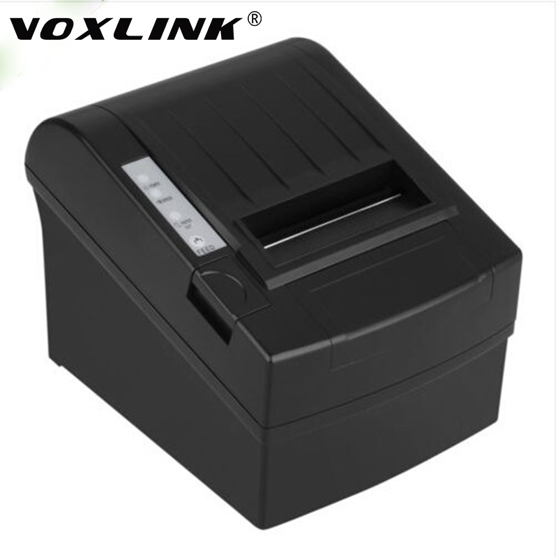 VOXLINK Auto Cutter Printer 300mm/s 80MM POS Thermal Receipt Printer Barcode Thermal Printing Esc USB/Serial/Ethernet 300 mm s print speed black 80mm pos thermal receipt printer auto cutter cut windows2000 xp vista 8 10 linux usb ethernet