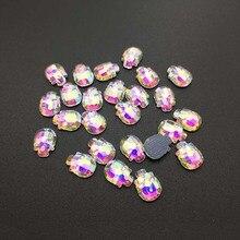 DIY Clothing Ornament Hot Drilling Color Skull Shape Flat Bottom Loose Diamond Crystal 3D Nail Art Decoration Bag