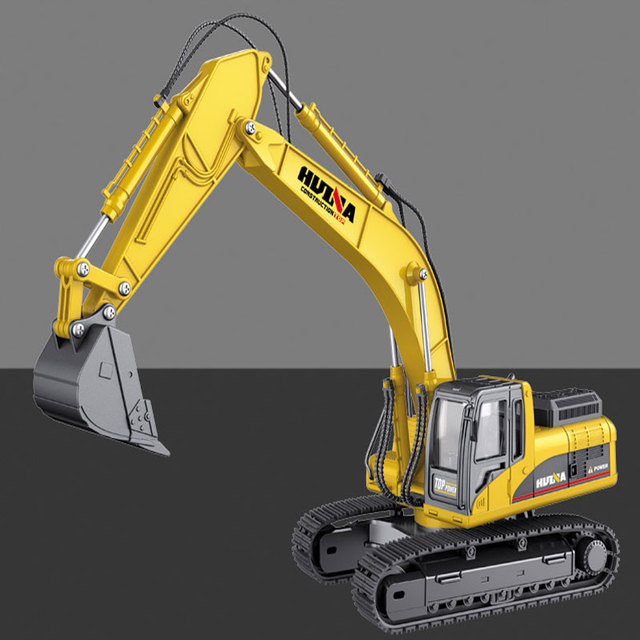 HUINA Model Engineering Digging RTR 7713-1 1/50 Scale Alloy Hydraulic Excavator Car Model for Kids Boys Toys