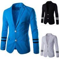2017新しいスタイルの高品質メンズピュアカラーファッションスーツ男性スーツウェディング
