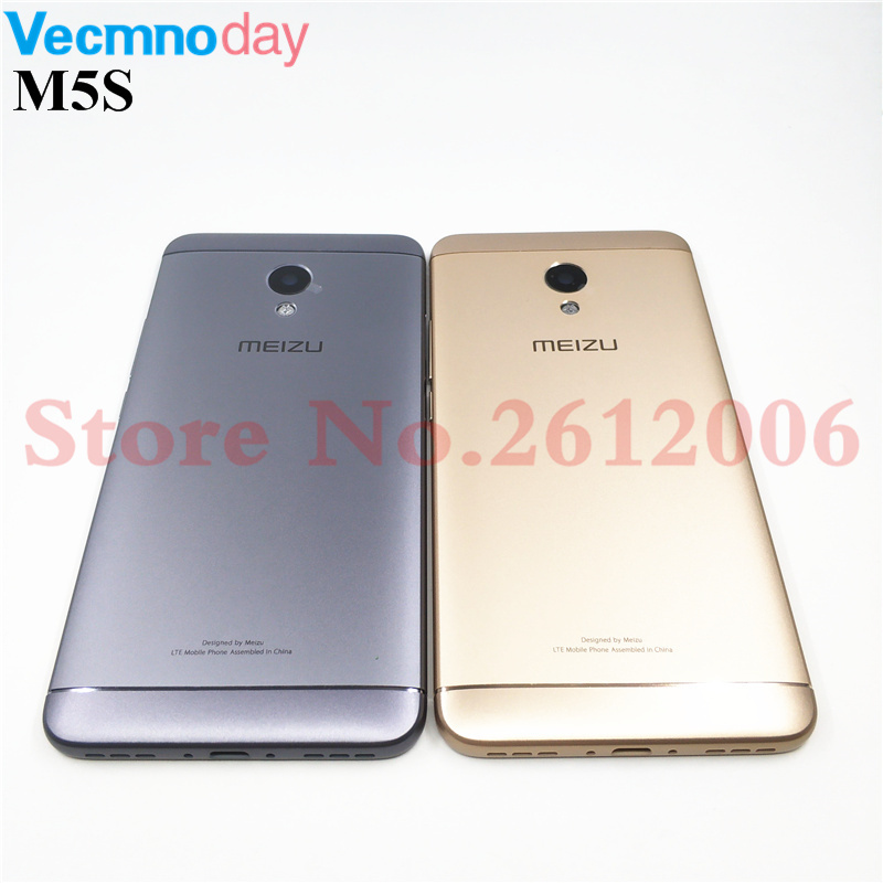Original Housing For Meizu M5S M612H M612M Metal Battery Back Cover Mobile Phone Replacement Parts Case With Buttons Camera Lens