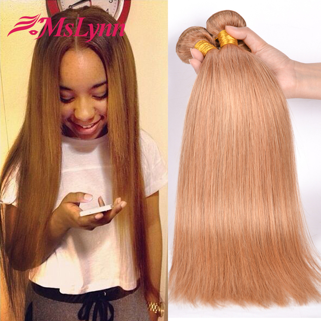 Geliefde Honing Blonde Maleisische Haar Weave Bundels Blond Virgin Hair @OA29