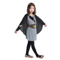 Caçadora MOONIGHT 5 Pcs Crianças Com Capuz Criança Guerreiro Antigo Partido Do Carnaval de Halloween Meninas Traje cosplay cavaleiro Fancy Dress