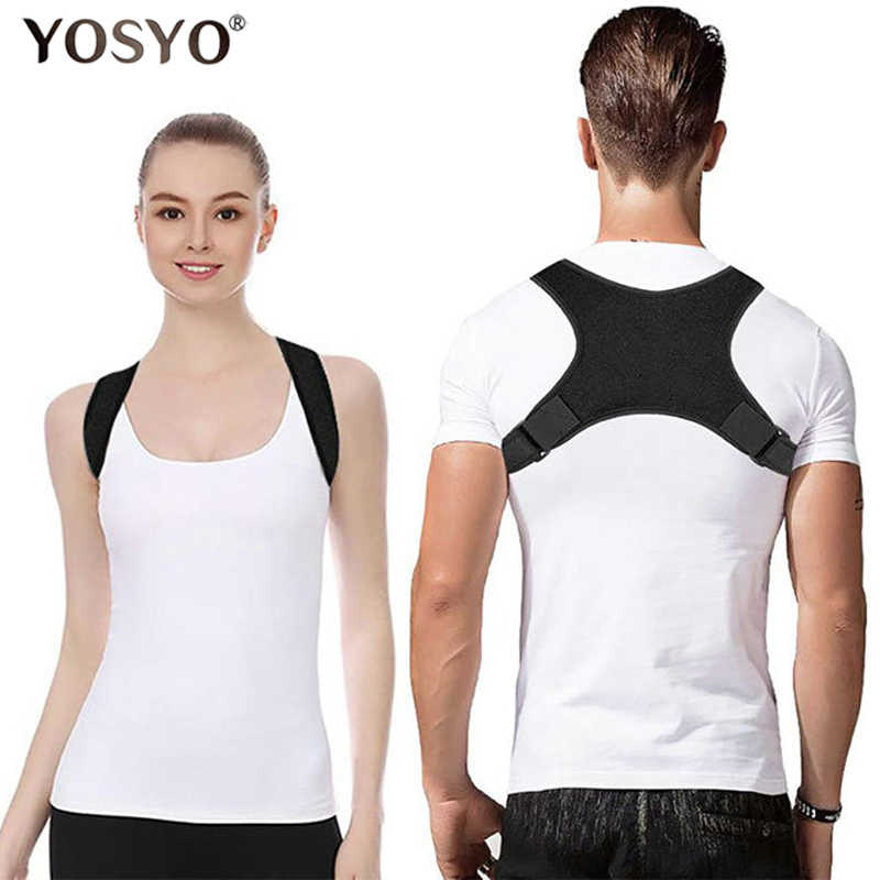 YOSYO Spine Posture Corrector Protection Back Shoulder Posture Correction Band Humpback Back Pain Relief Corrector Brace
