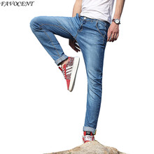 FAVOCENT 2017 Spring & Autumn Korean version of the small straight stretch jeans men waist Slim jeans multicolor Plus size 28-38