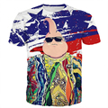 Legal Hip Hop Biggie Smalls tshirts Estampas Anime Dragon Ball Majin Buu buu camiseta 3D tee Bandeira América camisas de t Das Mulheres Dos Homens Do Vintage