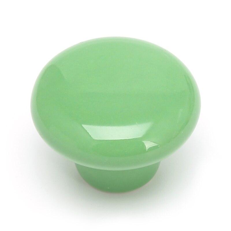 1 шт. круглая ручка для шкафа Керамическая Дверь Шкаф Ящик кухонный выдвижной домашний декор - Цвет: Зеленый