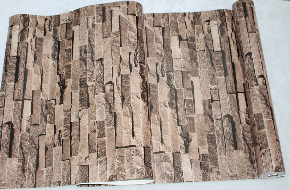 Aliexpress.com : Buy HaokHome Vintage Faux Brick Wallpaper Rolls Sand Multi  3D Realistic Stone Paper Murals Home Bedroom Living room Wall Decoration  from ... - Aliexpress.com : Buy HaokHome Vintage Faux Brick Wallpaper Rolls