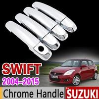 For Suzuki Swift 2004 2015 Chrome Handle Cover Trim Set Maruti DZire 2005 2007 2009 2011
