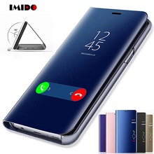 IMIDO Clear View Smart Mirror Phone Case For Huawei Mate20 10 9 8 Pro Lite P20 P10 P9 P8 Plus Filp Back Cover Coque