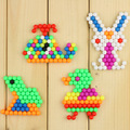 4 bags/lot Water beadbond children's educational toys DIY Magic Beads puzzle Packed magical water fight Peas FREE SHIPPING