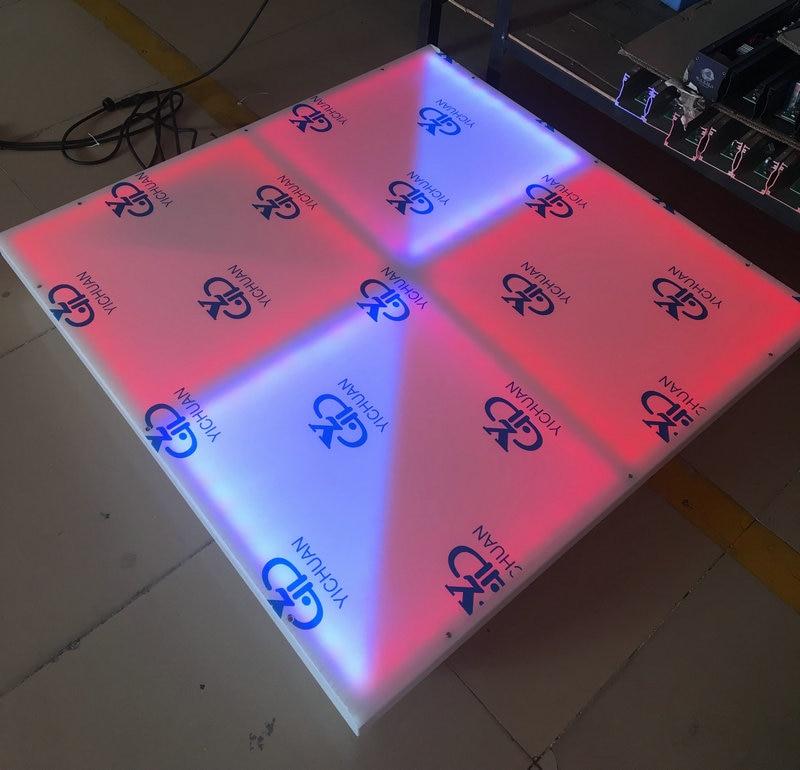 Раша 1 м * 1 м 432 светодиоды rgb полный Цвет dmx512 привело танцпол Для Свадебная вечеринка караоке DJ ночной клуб enertainment starlite
