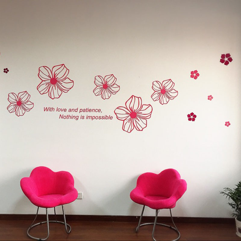 Aliexpress.com : Buy Beautiful Flowers Design 3D Acrylic Wall Stickers Room  Cafe Shop Wall Decorations DIY Sticker Many Colors From Reliable Decorative  ... Part 47