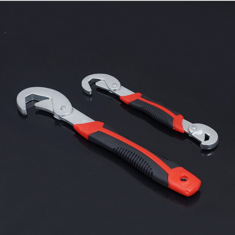 Universal Wrench Fast Wrench Multi function Wrench 2pcs Wrench 9 32mm Ratchet Wrench S Hook Head Wrench Spanner Hand Tools in Wrench from Tools