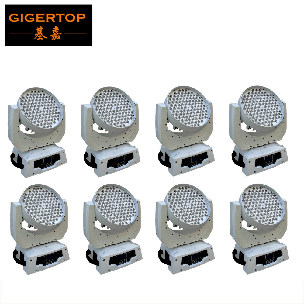 Free Shipping 8XLOT No Noise White Case 360W LED Moving Head Lighting Factory Price for RGBW Moving Head Light
