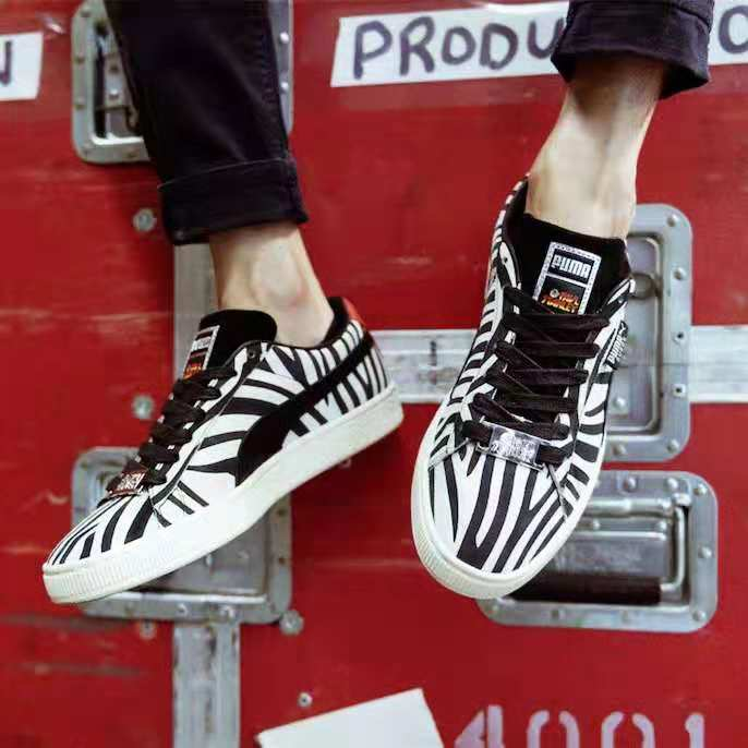 more photos c9ded c1f55 PUMA Suede Classic X Paul Stanley Women Sneakers Low Top Badminton Shoes  Women 50th Anniversary Sports Shoes Size 36-40