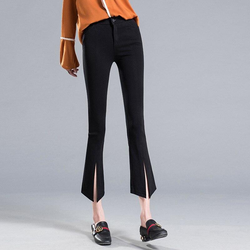 Ketika mikro pinggang tipis celana wanita tidak teratur hem celana - Pakaian Wanita - Foto 1