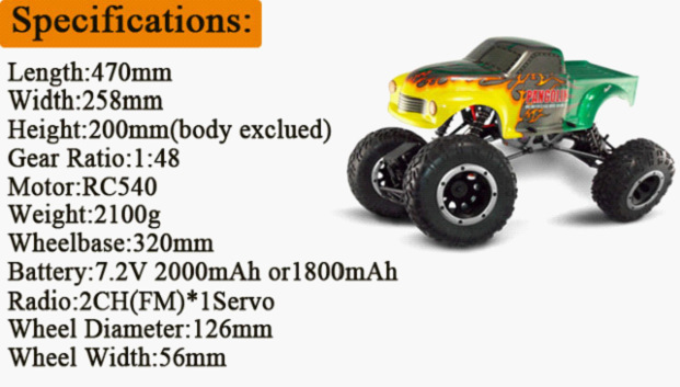 HSP 94180 1/10th Scale RC Car 4WD Electric Powered Off-Road rc Crawler 2.4G Climbing Truck / car P3 02023 clutch bell double gears 19t 24t for rc hsp 1 10th 4wd on road off road car truck silver