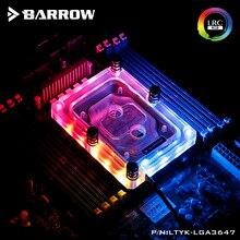 Barrow CPU Water Block use for Intel SKYLAKE-E-LGA3647 Socket RGB Light compatible 5V GND 3PIN Header in Motherboard Copper
