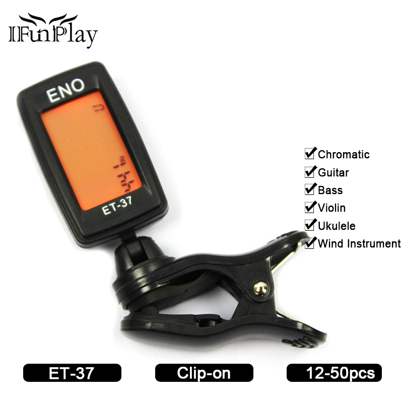 Digital  Gitarren Tuner Bass Capo Clip-On A0-C8 Chromatic for Gitarre Bass
