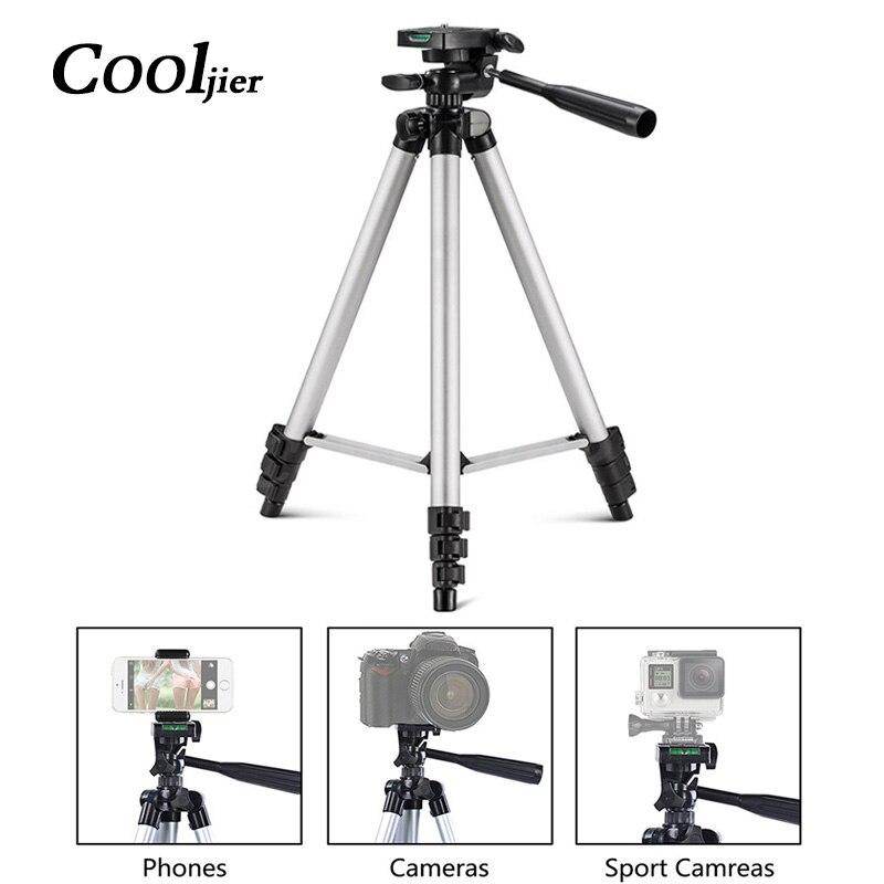 COOLJIER Protable Caméra Trépied Stand avec Rocker Bras Pour iPhone Samsung Mobile Téléphone Trépied Pour Canon Nikon Sony Caméra Trépied