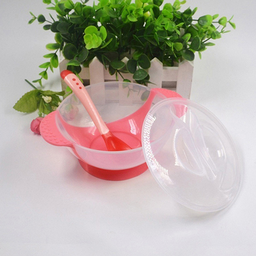 1 Set Baby Suction Bowl Temperature Color Changing Spoon Feeding Tableware Tool