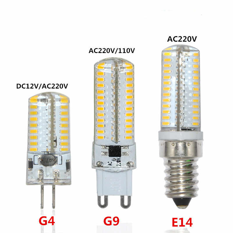 E14 15W 72 leds Support Dimmer LED Lamp Silicone Crystal Fridge Tube Refrigerator Light Indicator Corn Bulb Dimmable SMD 3014