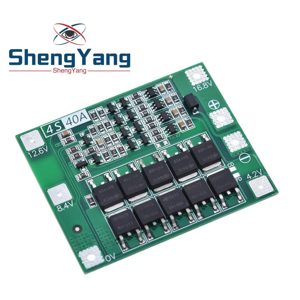ShengYang 4S 40A Li-ion Lithium Battery 18650 Charger PCB BMS Protection Board For Drill Motor 14.8V 16.8V Lipo Cell Module