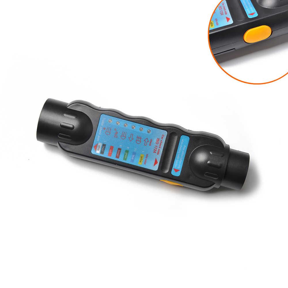 Dayanıklı 12 V 7-Pin Römork Soket Fiş Dayanıklı Araba Kamyon Römork Fiş Soket Test Kablo Devresi Işık Aracı araba Devre Test