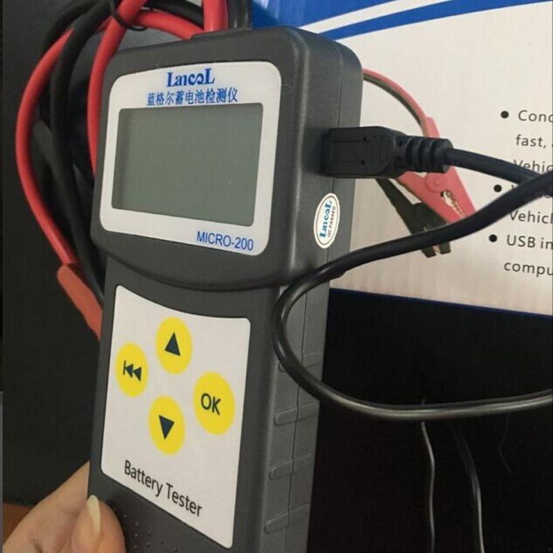 Lancol Micro200 Professional Тестер батарея автомобиля диагностический инструмент Automovi анализатор 12 В в CCA батарея системы тестер USB для печати