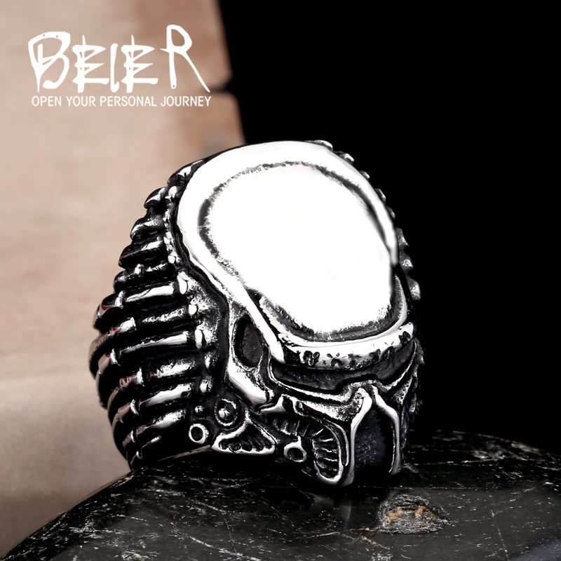 Beier new store 316L Stainless Steel ring top quality man movie style predator fashion Jewelry LLBR8-217R