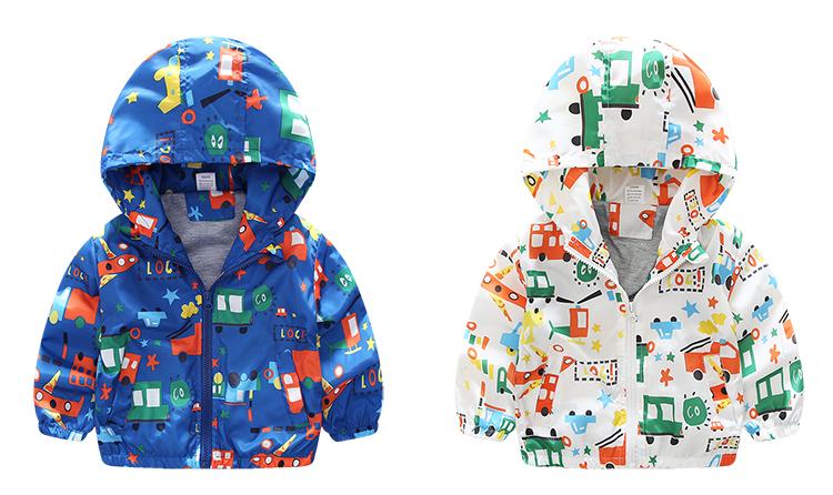 2b00ecfc668a New Summer   Autumn Children Jackets Casual Hooded Kids Outerwear ...