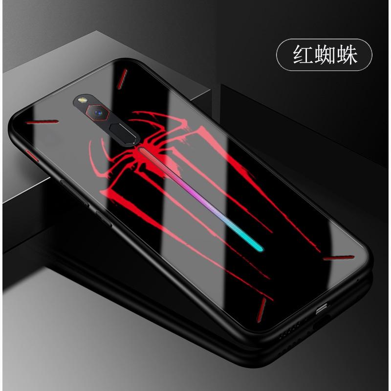 Pour Nubia Rouge Magique cas téléphone cas en verre Trempé couverture arrière Pour Nubia RedMagic Trempé Couvercle En Verre CAS