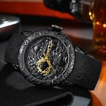 Gold Dragon Sculpture Watch