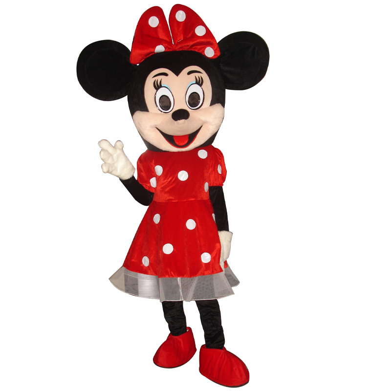High Quality Minnie/'s Head Mascot Costume Cosplay Party Anime Fancy Dress Parade