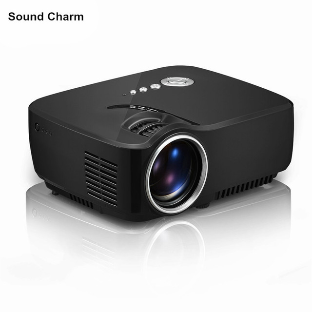 New Price New GP70 HD mini projecotr  USB Video Game support 1080P Home Theater LCD HDMI lcd  LED Projector Beamer free shipping