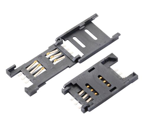 10PCS SIM Card Socket Connector 6-Pin Clamshell Mobile Communications Deck SIM Card Slot 6P Contact Deck
