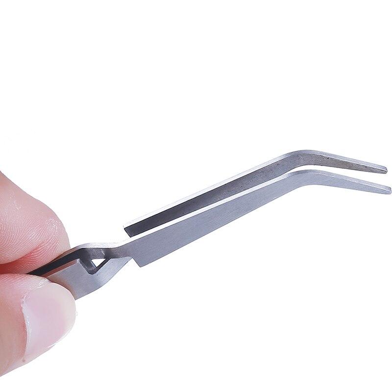 1 шт. Nail Art акриловые гель Выбор инструмента стразами драгоценные камни декор черный щипцы для ресниц антистатические DIY ручной Клип ногтей пинцет