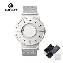 Купить с кэшбэком EUTOUR Men Watches Creative Steel Ball Show Magnetic Watch Canvas Fashion Design Male Clock Novel Mens Watches Wristwatches 2017