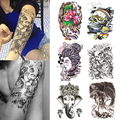Large Sexy Temporary Tattoo Skull Temporary Body Arm Stickers Black Removable Waterproof smt 101