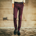 Men Suit Pants Mens Solid Trousers Brand Business Men's Pant Slimming Western Pants 2016 autumn new casual pants Free shipping