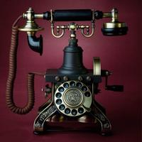 European Rotary Dial Antique Vintage Household Fixed Telephone Landline High end For Business Office Home