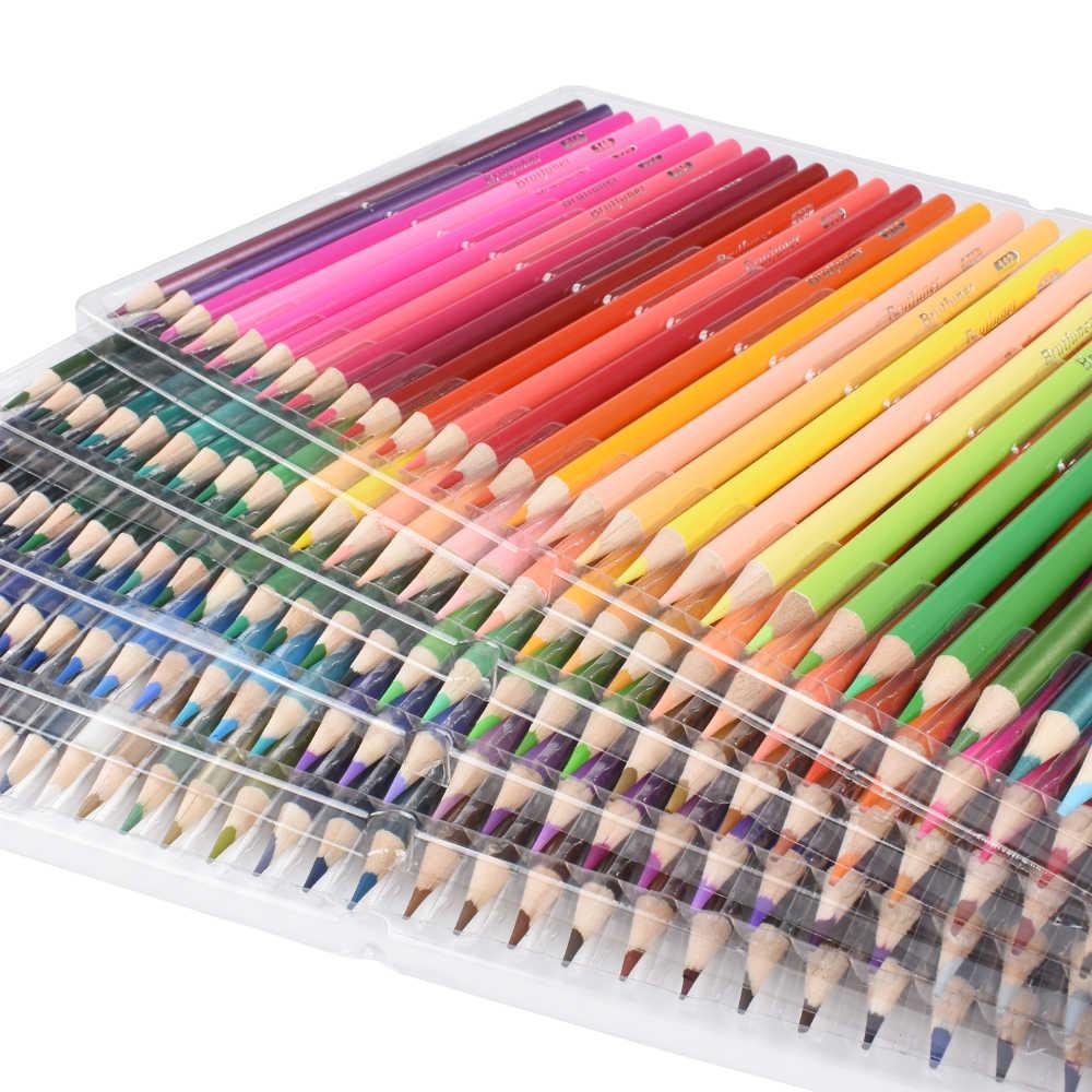 طقم أقلام تلوين خشبية 120/160 لون غير سام ألوان فنية احترافية رسم زيتية للمدرسة مستلزمات رسم فني